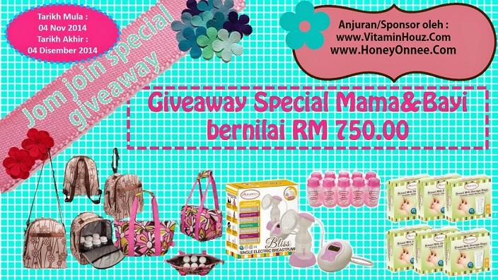 Giveaway Special Mama & Bayi bernilai RM 750.00  Make Money at : http://bit.ly/copy_win