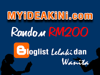 MYiDEAKiNi.com Random RM200 Bloglist Lelaki dan Wanita
