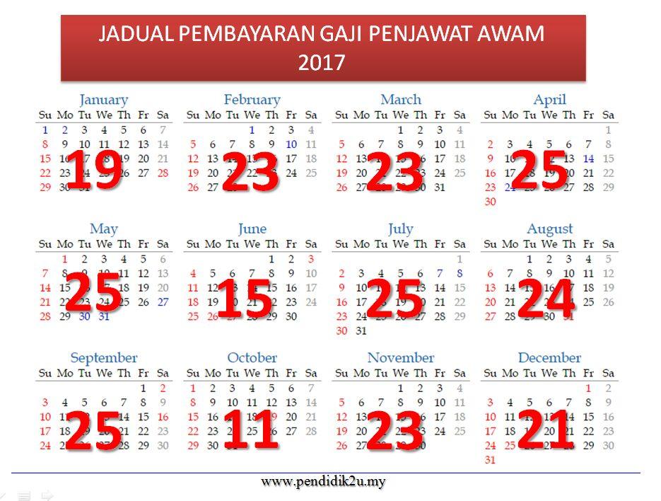 jadual-pembayaran-gaji-penjawat-awam-2017